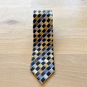 ALEXANDER JULIAN COLOURS black mens necktie